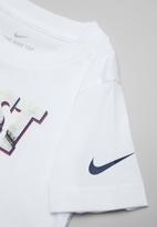 Nike - Nike boys just do it sliced short sleeve tee - white