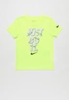 Nike - Nike boys just do it sliced short sleeve tee - yellow
