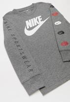 Nike - Multi-band long sleeve tee - grey