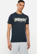 Superdry. - Camo box tee - navy