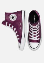 Converse - Chuck Taylor All Star hi - carmine pink / silver / white