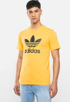 adidas Originals - Adidas trefoil crew short sleeve tee - yellow