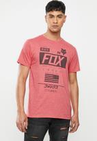 Fox - Unionized short sleeve tee - red
