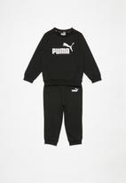 PUMA - Minicats ess crew jogger set  - black