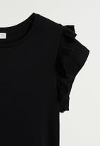 MANGO - T-shirt vickybak - black