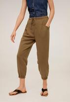 MANGO - Trousers bolt - brown