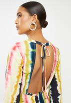 Glamorous - Tie dye long sleeve midi - multi