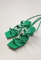 MANGO - Pamela leather sandal - bright green