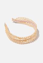 Cotton On - Headband- apricot sun lace - neutral