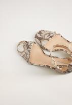 MANGO - Basic heel - natural
