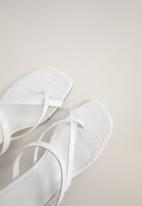 MANGO - Pile heel - white