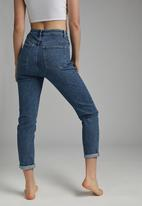 Cotton On - Stretch mom jean - coogee blue