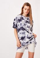 Cotton On - 90s T-shirt nightie - navy & white