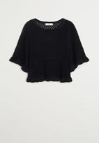 MANGO - Sweater pale - black