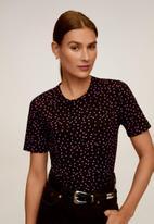 MANGO - Chalove T-shirt - black & pink