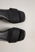 MANGO - Piaf wedge heel - black