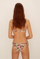 MANGO - Elastic printed twin side bow bikini top - multi