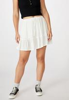 Cotton On - Penny tiered mini skirt - neutral