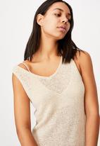 Cotton On - Summer lounge slip dress - neutral
