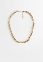 MANGO - Necklace daphne - gold