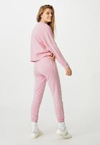 Cotton On - Slim fit trackpant - pink