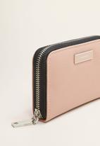 MANGO - Badu wallet - light pastel pink