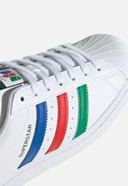 adidas Originals - Superstar - ftwr white/green/core black