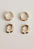 MANGO - Clady earrings - gold