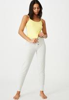 Cotton On - Long rib tank - yellow