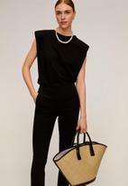 MANGO - Cola trousers - black