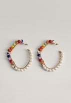 MANGO - Diesa earrings - light pastel gray