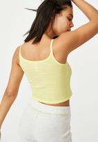 Cotton On - Ribbed sleep tank - yellow