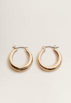MANGO - Loop earrings - gold