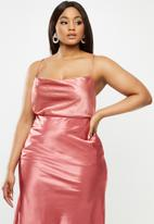 Glamorous - Plus satin cami - rose