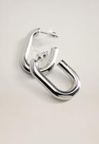 MANGO - Saffi earrings - silver