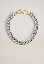 MANGO - Dagmar necklace - silver