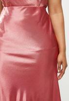 Glamorous - Plus midi skirt - rose