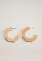 MANGO - Hawai earrings - brown
