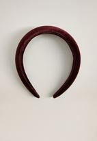 MANGO - Rosalie hairband - dark red