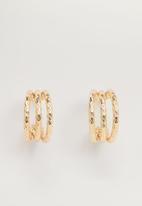 MANGO - Sarah earrings - gold