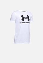 Under Armour - Sportstyle logo short sleeve T-shirt - white