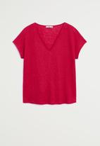 MANGO - Linito T-shirt - red