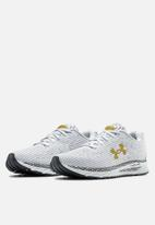 Under Armour - Ua hovr velociti 3 - halo gry / blackout purple / metallic gold luster