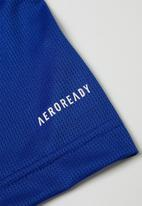 adidas Originals - Tr 3s short sleeve tee - royal blue / signal green