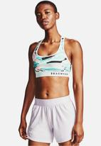 Under Armour - Armour mid impact crossback printed bra - blue & black