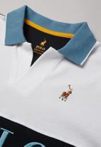 POLO - Boys Craig cut & sew Johnny collared golfer - blue