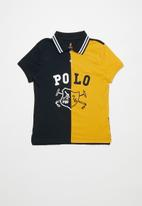 POLO - Boys Layton printed cut & sew golfer - yellow