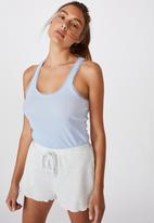 Cotton On - Lace racer back tank - soft blue marle