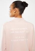 Escape Society - Cove luxe bomber jacket - dusty pink