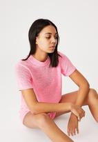 Cotton On - Summer lounge T-shirt -strawberry